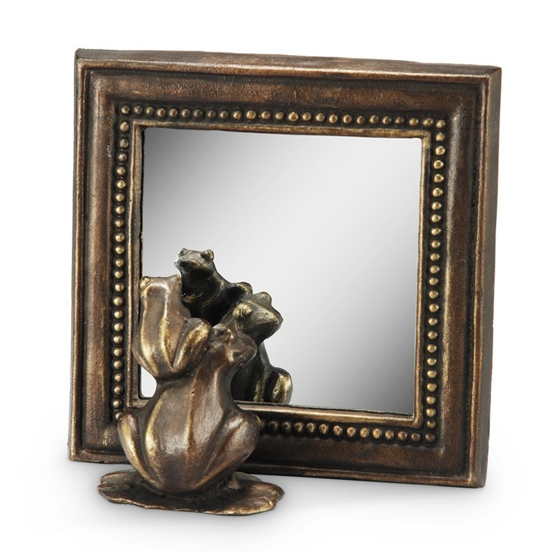 SQUARE MIRROR WITH FROGS