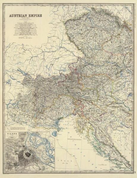 ALEXANDER KEITH JOHNSTON - AUSTRIA WEST, 1861