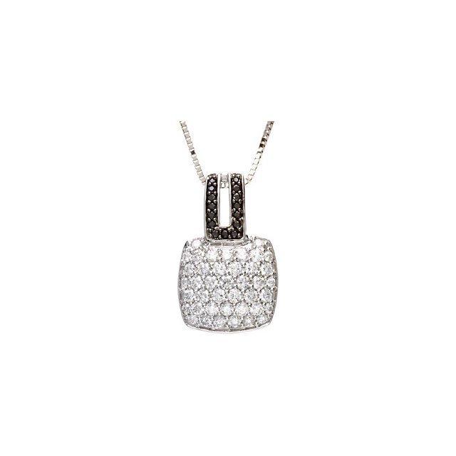 1 1/4 C TW BLACK & WHITE DIAMOND NECKLACE