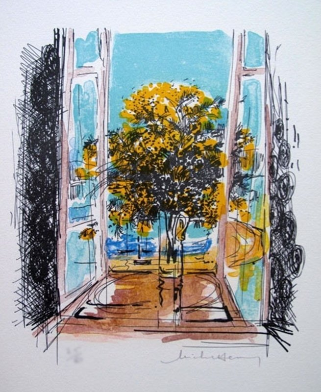 MICHEL HENRY FLOWERS IN WINDOW SILL LIMITED ED. HAND