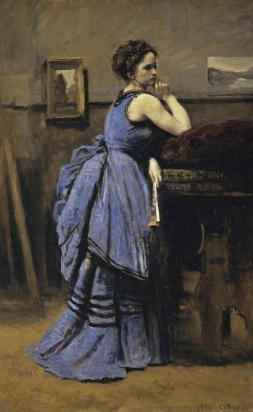 JEAN BAPTISTE COROT - WOMAN IN BLUE