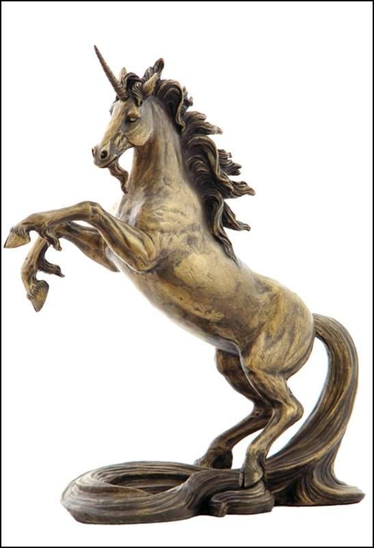 UNICORN WITH LONG TAIL - BRONZE