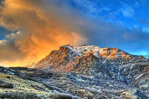 Sean McGrath  - Winter Sunset Timpanogos UT by Sean