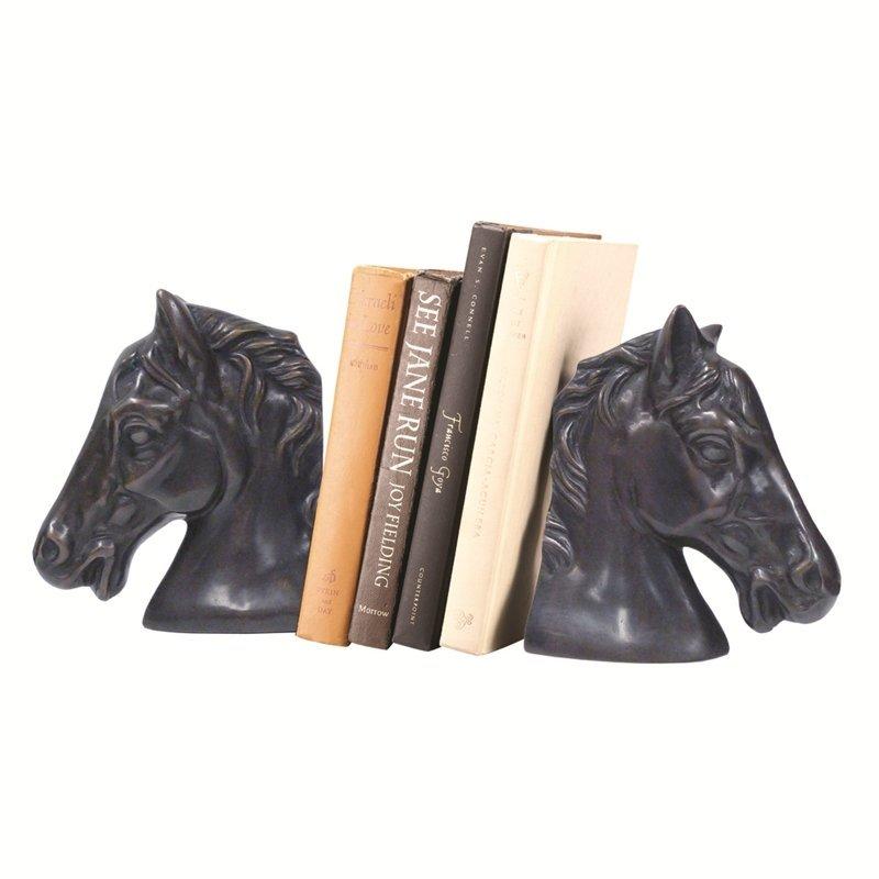 CLASSIC HORSEHEAD BOOKENDS PR