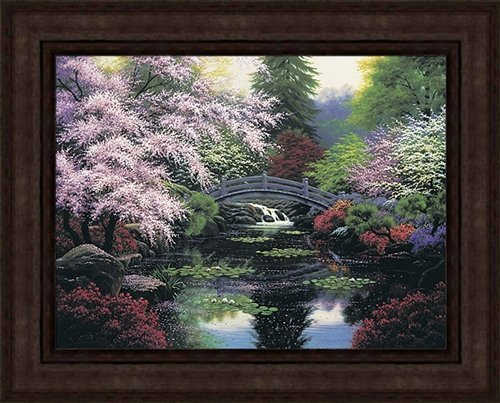 BRIDGE OF TRANQUILITY FRAMED ARTIST PROOF 31X39