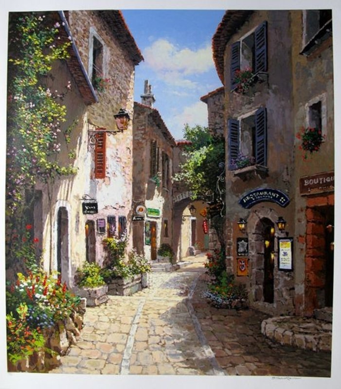 SAM PARK MORNING IN PROVENCE HAND SIGNED LIMITED ED.