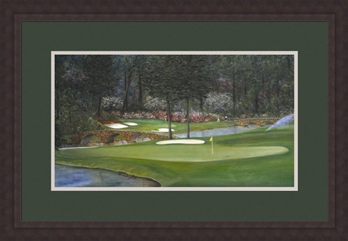 Framed print Augusta at the 11th hole - Framed print