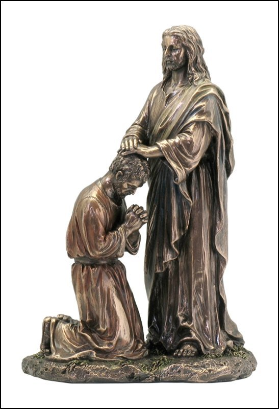 JESUS BLESSING THE DISCIPLE - BRONZE