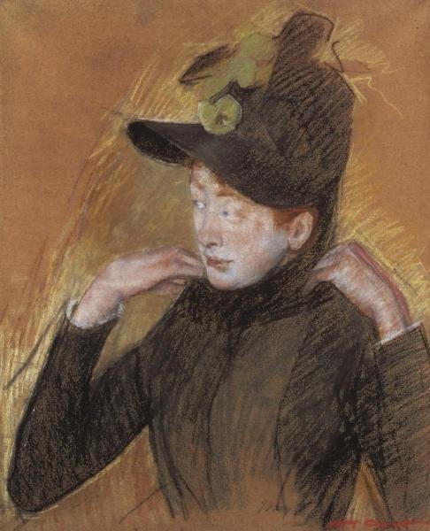 MARY CASSATT - WOMAN ARRANGING HER VEIL 1890