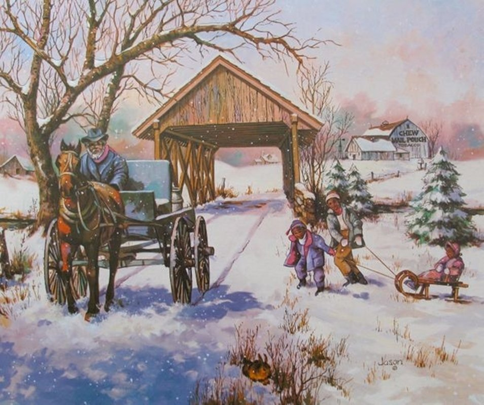 JASON TOBACCO FAMILY FARM PLATE SIGNED LITHOGRAPH ON