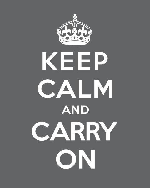 THE BRITISH MINISTRY OF INFORMATION - KEEP CALM AND