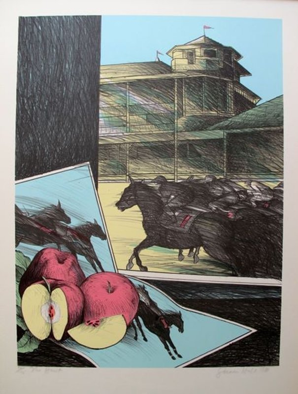 SUSAN HALL THE HUNT HAND SIGNED LIMITED ED. LITHOGRAPH
