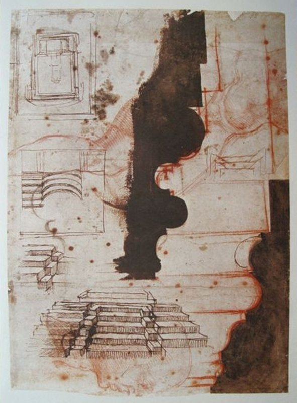 """MICHELANGELO 1970 LITHOGRAPH """"ARCHITECTURAL PROJECTS"""""""