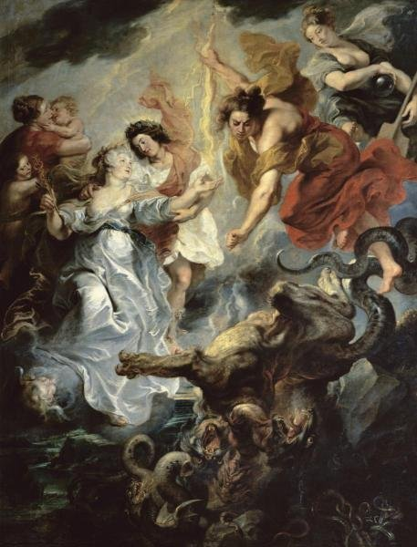 PETER PAUL RUBENS - THE QUEEN'S RECONCILIATION WITH HER