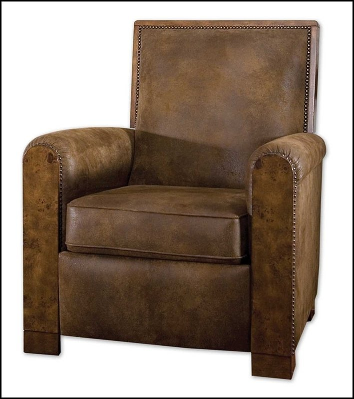 CONSUELO BROWN PUSHBACK ARMCHAIR