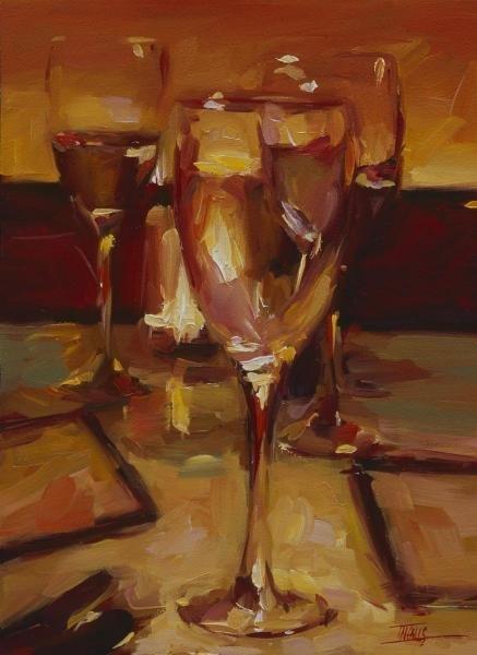 PAM INGALLS - WINE GLASSES, PARIS