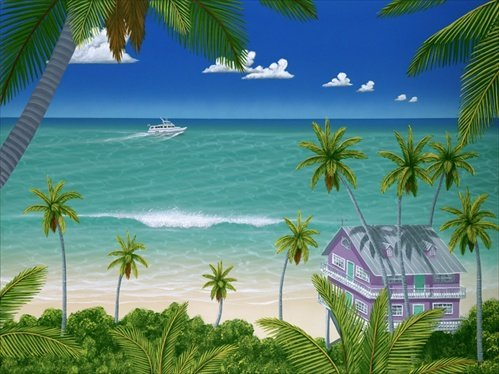 Dan Mackin - Upside of Paradise 24x32