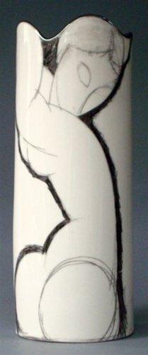 CARIATID MODERN ART VASE BY MODIGLIANI