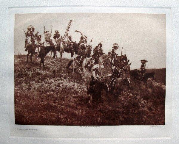 EDWARD S. CURTIS OGALALA WAR GRAVURE PHOTOGRAPH