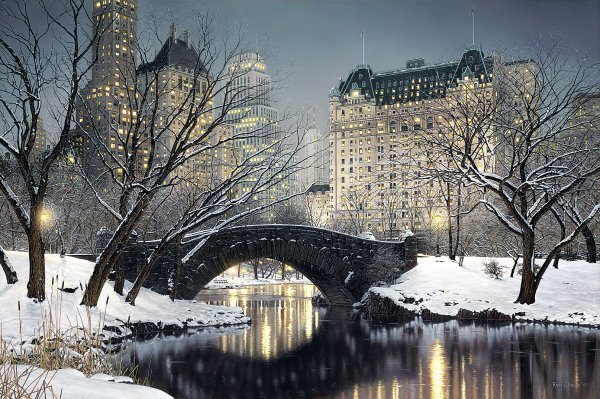 Twilight in Central Park by Rod Chase - Full Image