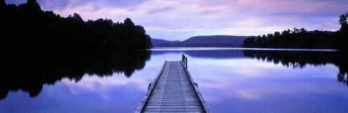 David Evans  - Lake Mapourika by David Evans