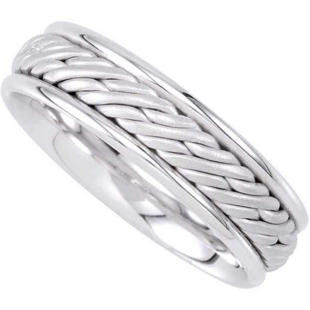 6.5MM HAND WOVEN COMFORT FIT LADIES OR GENTS WEDDING
