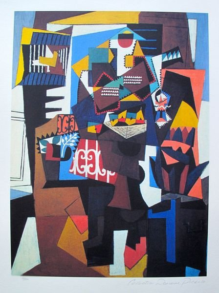#143 ABSTRACT PICASSO ESTATE SIGNED GICLÉE