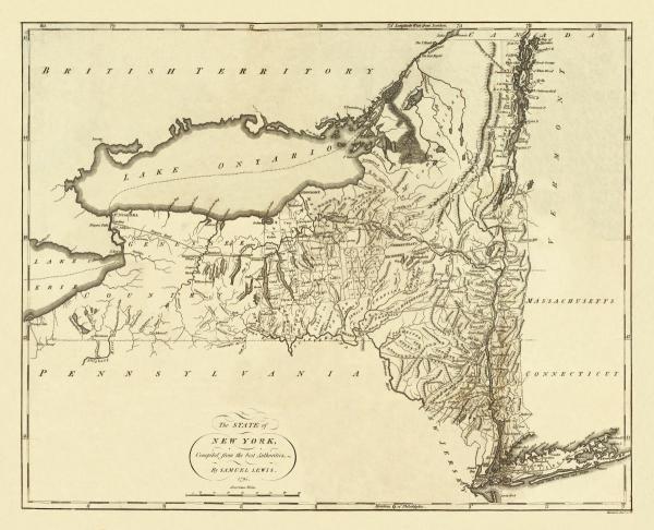 MATHEW CAREY - STATE OF NEW YORK, 1795