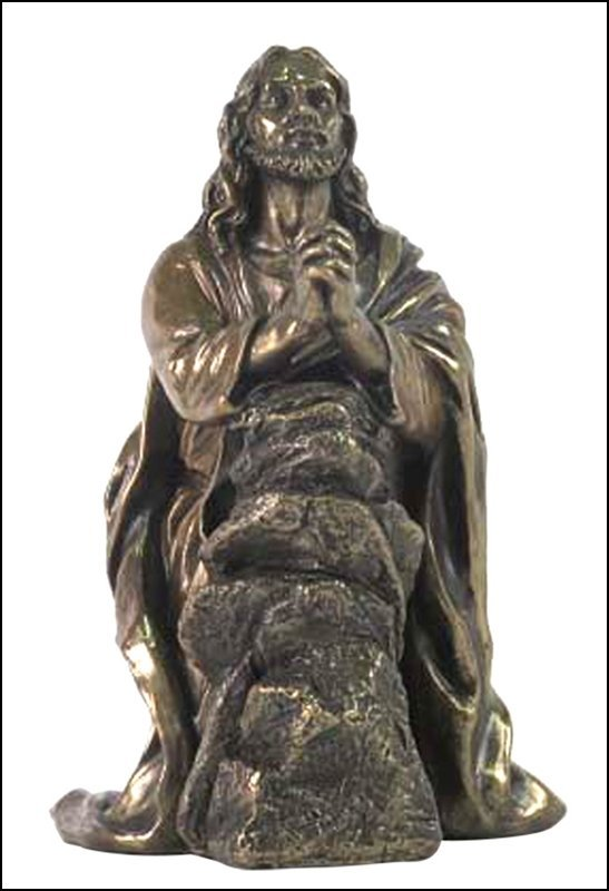JESUS PRAYING IN THE GARDEN OF GETHSEMANE - BRONZE