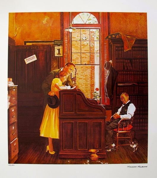 NORMAN ROCKWELL ORIGINAL 1978 HAND SIGNED LITHOGRAPH