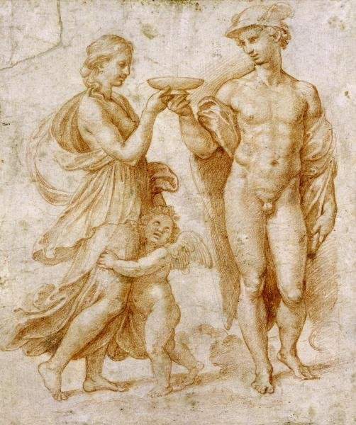 RAPHAEL - MERCURY OFFERING THE CUP OF IMMORTALITY TO