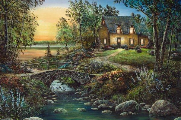 Stonybrook Cottage by Jim Hansel