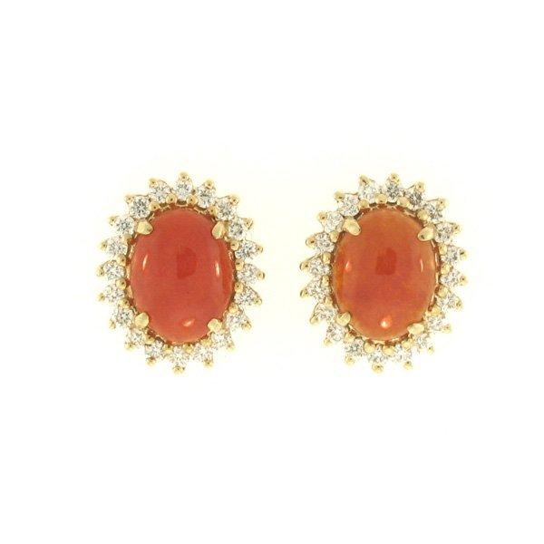 NATURAL RED JADE EARRINGS