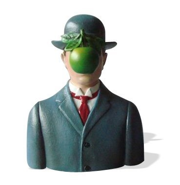 SON OF MAN WEARING BOWLER HAT BY MAGRITTE
