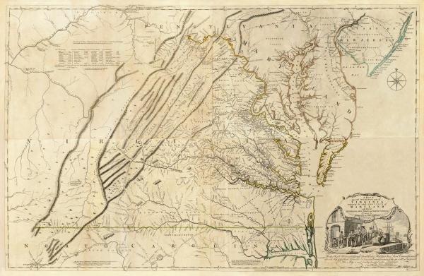 THOMAS JEFFERYS - COMPOSITE: VIRGINIA, 1776