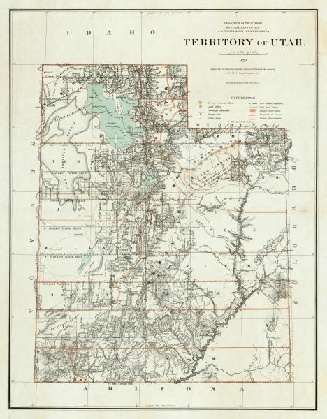 U.S. GENERAL LAND OFFICE - TERRITORY OF UTAH, 1879