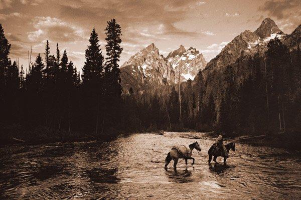 River Crossing I by Robert Dawson