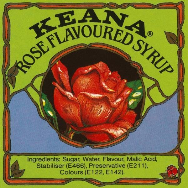 RETROLABEL - KEANA ROSE FLAVOURED SYRUP