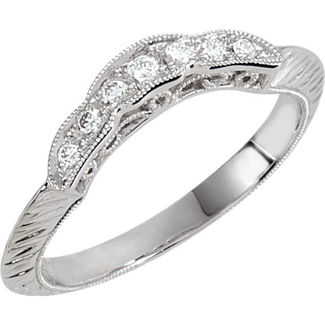 ENGRAVED ENGAGEMENT RING OR MATCHING BAND
