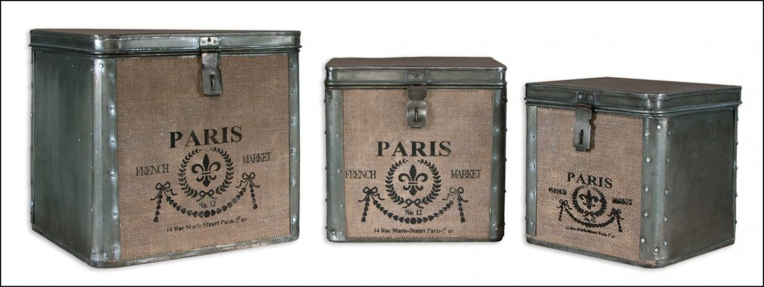 PARIS HINGED BOXES SET/3