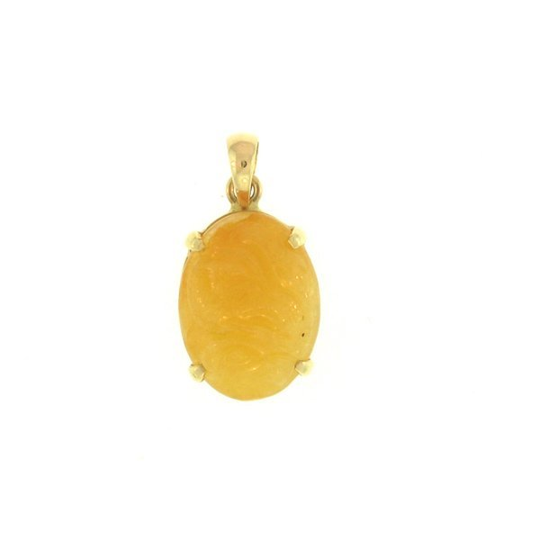 NATURAL YELLOW JADE PENDANT