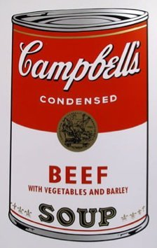 ANDY WARHOL  SUNDAY B. MORNING  BEEF SOUP CAN