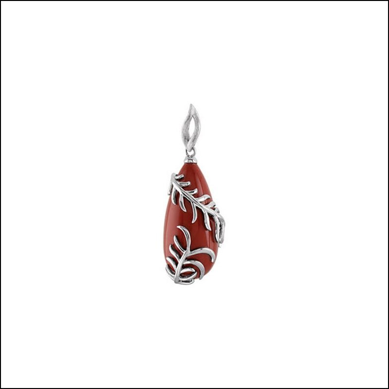 GENUINE RED JASPER PENDANT