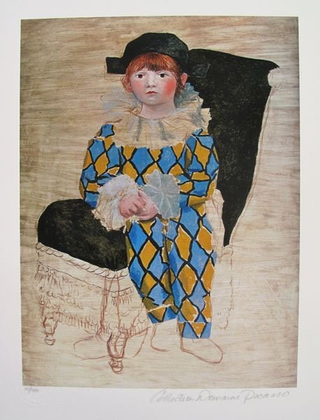 PABLO PICASSO PAUL AS A HARLEQUIN ESTATE SIGNED LIMITED