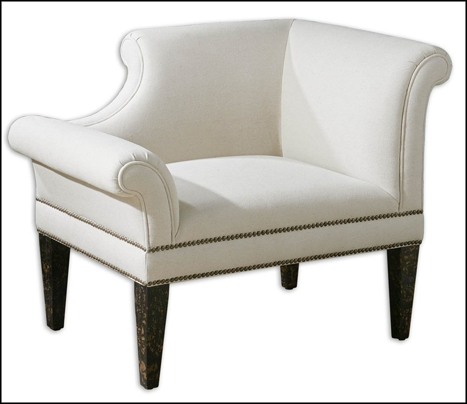 FONTAINE RIGHT WHITE ARMCHAIR