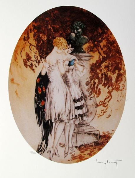 LOUIS ICART LOOK FACSIMILE SIGNED LIMITED ED. GICLEE