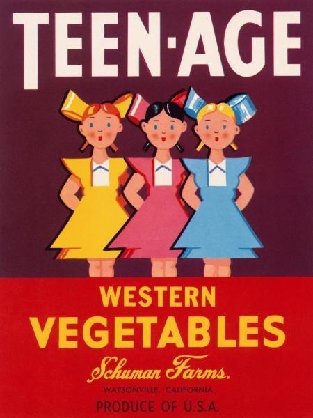 RETROLABEL - TEEN - AGE WESTERN VEGETABLES