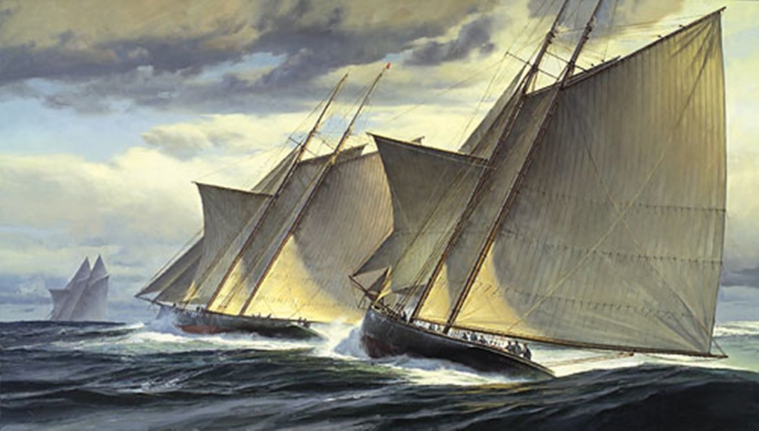 END OF DAY ONE - THE GREAT TRANSATLANTIC RACE, 1866 -