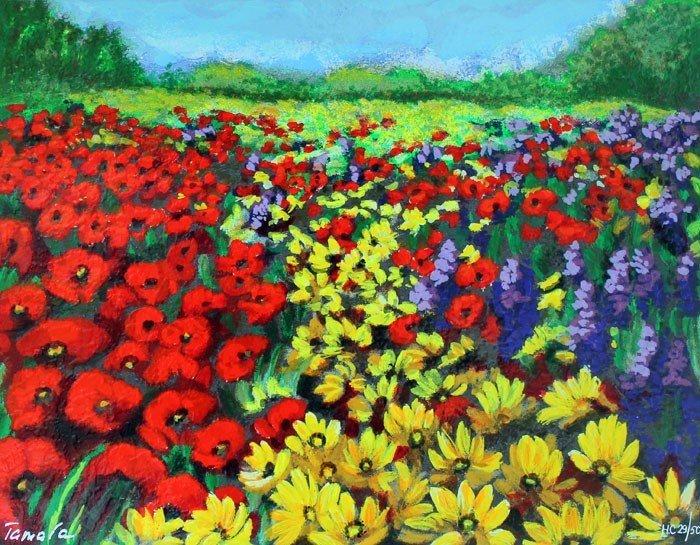 TAMARA SPOLIANSKI - FLOWER LANDSCAPE I