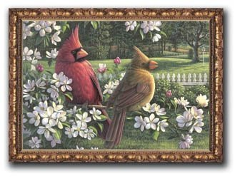 Kim Norlien - Spring Cardinals 15x18